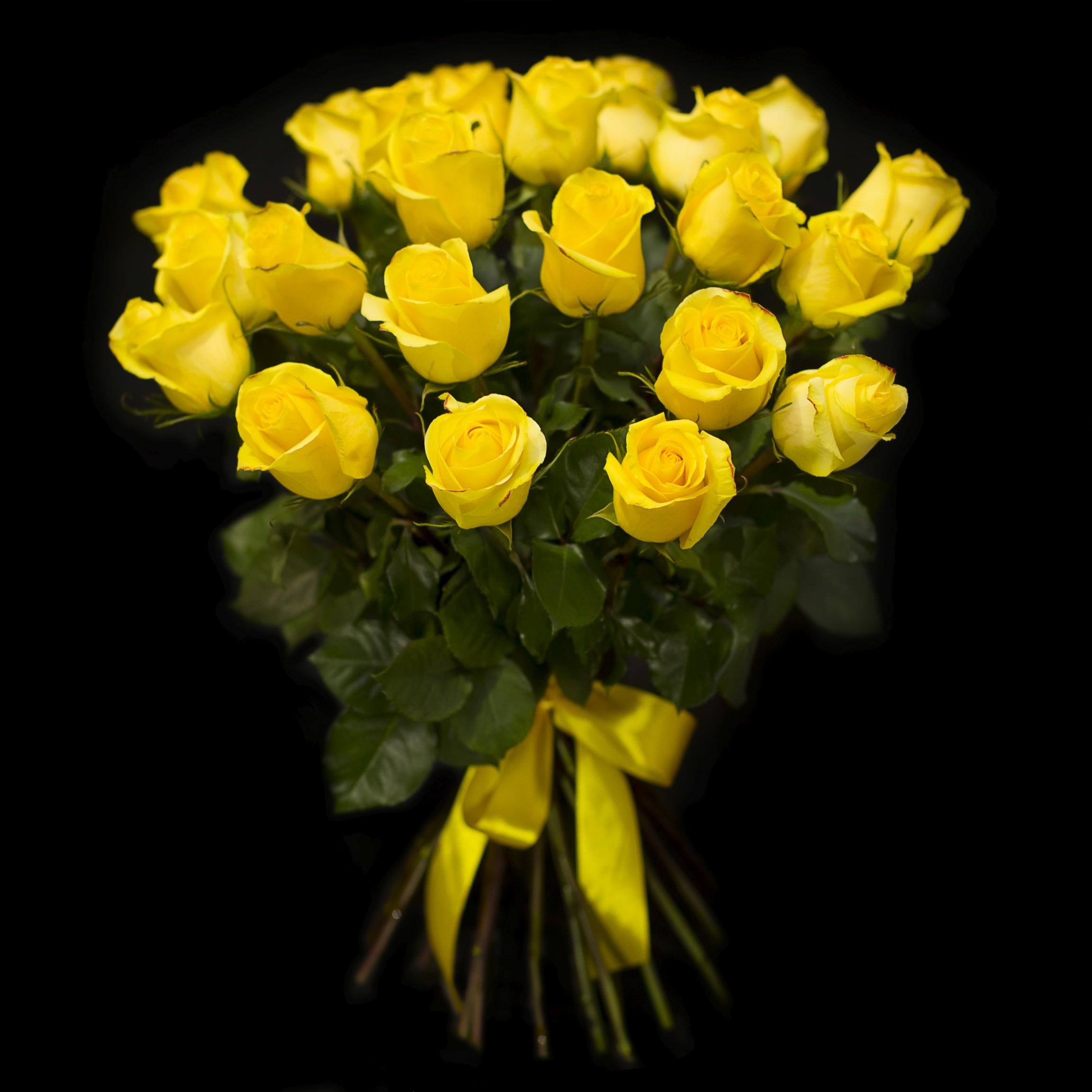 этим красивый букет из желтых роз должна быть